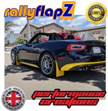 124 Spider & 124 aBarth  (2016+) YELLOW MUDFLAPS